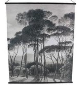 Wall Plaque Trees Velvet Black 140x2x170cm