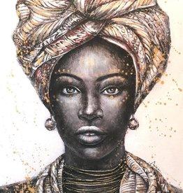 Olieverf op Canvas Schilderij Angisa Mother 70x100x5 cm