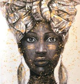Olieverf op Canvas Schilderij Angisa Daughter 70x100x5 cm