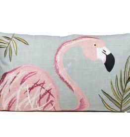 DigaC.Kussen met Flamingo 60x35cm Linnen incl.binnenkussen
