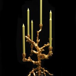 Pols Potten Pols Potten Candle  holder Apple tree gold coloured aluminium