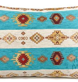 Boho Esperanza Kussens Aztec WitTurquoise Kussen 50x70cm incl.binnenkussen