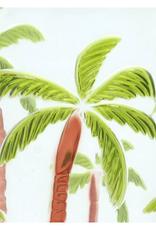 Glas Palmboom Groen Acryl 3x9,3x12cm