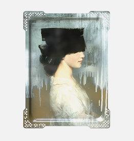 IDA#2- Rectangular tray Vrouw Blindoek,Ibride 65 x 47 cm