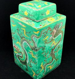 Green Dragon Pots square 18x18x34cm