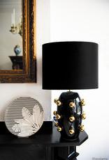 Loco Lama Loco Lama Lamp Base Black/ Big Golden Dots zwart 30x51cm +Shade