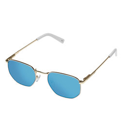 Le Specs Alto-GOLD / WHITE W/ BLUE MIRROR