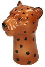 Vase Leopard Fine Earthenware Brown
