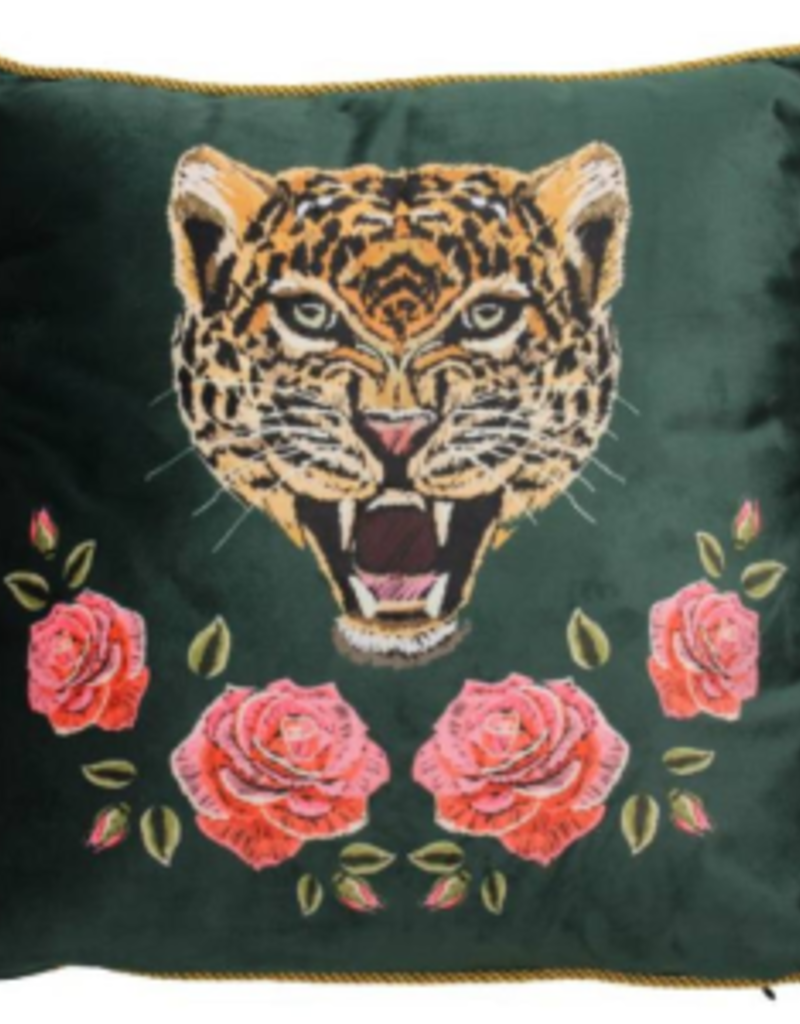 Cushion Leopard Velvet Multi 45x45cm