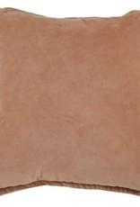 GoRound Fluwelen Cotton Velvet liver 45x45cm incl.binnenkussen