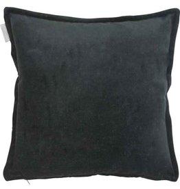 GoRound Cushion Velvet Black 45x45cm incl.binnenkussen