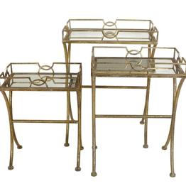 Tafels Metaal, Goud 52x36x72.5cm Set van 3