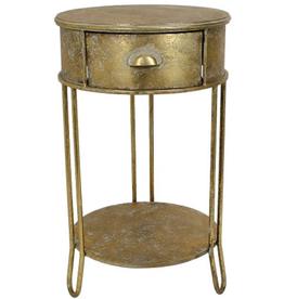 Cabinet Tafel Metaal goud 45,5x45,5x76cm