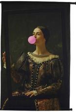 Wall Plaque Chewing Gum Velvet Brown 75x106cm