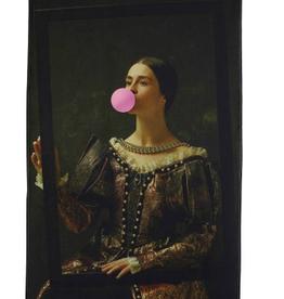 Wall Plaque Chewing Gum Velvet Brown 83x110cm