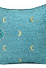 Boho Kussen Stars&Moons Turquoise 45x45cm,incl.binnenkussen