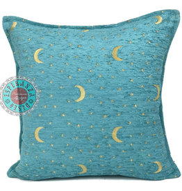 Boho Esparanza Boho Kussen Stars&Moons Turquoise 45x45cm,incl.binnenkussen
