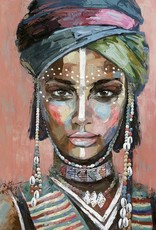 Olieverfschilderij Colorful Woman 90x120cm  TH