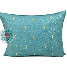 Boho Kussen Stars&Moons Turquoise 50x70cm,incl.binnenkussen