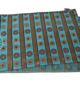 Boho Tafelloper PeruTurquoise 45x140cm