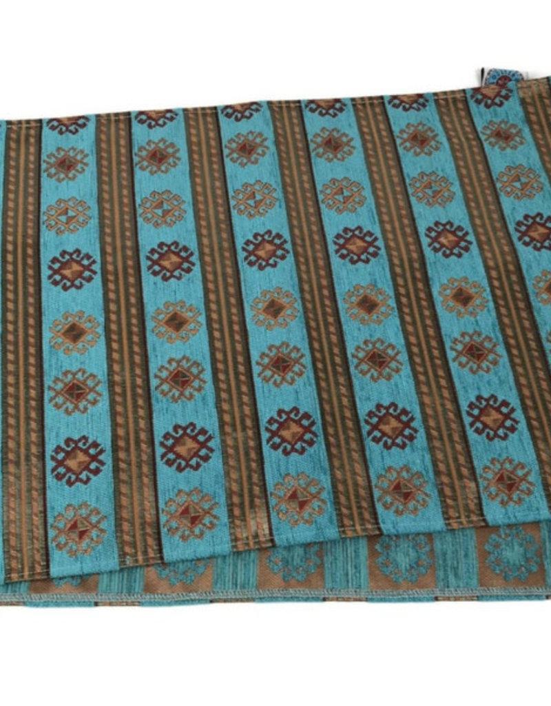 Boho Esparanza Boho Tafelloper PeruTurquoise 45x140cm