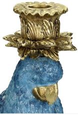 Candle Stick Bird Blue 36x14x14cm