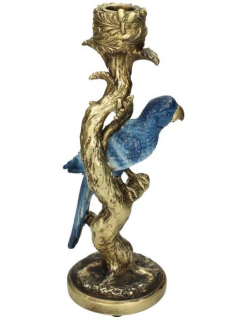 Candle Stick Bird Blue 26x9x11cm