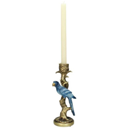 Candle Stick Bird Blue 26x9x11cm