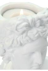 Candle Stick Lady White 24x9x15cm