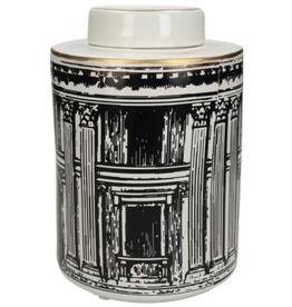 Jar Building Black 23x16x16cm