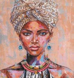Olieverfschilderij Woman with Turban 90x120cm  TH