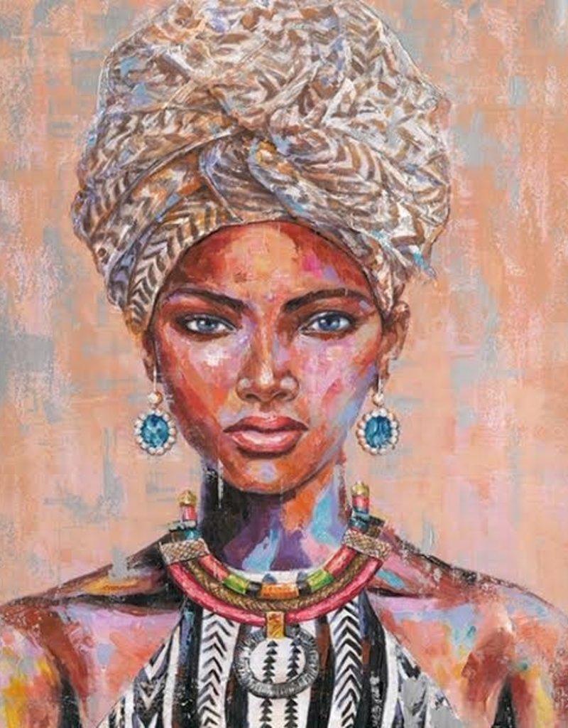 Olieverfschilderij Woman with Turban 90x120cm  TH DS