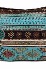 Boho Esperanza Kussens Peru Turquoise Kussen 45x45cm incl.binnenkussen
