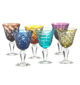 Pols Potten Pols Potten wine glass cuttings multicolour set 6