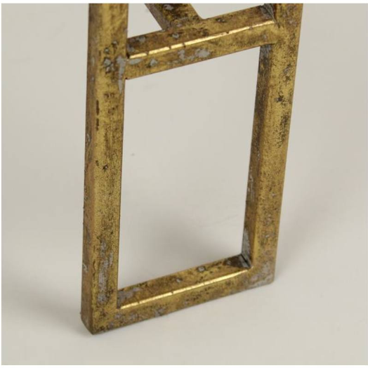 Table Gold Metal 62x47x47cm