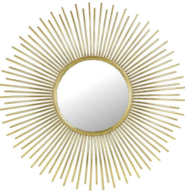 Mirror Gold Metal 75,5x3,5x75.5cm