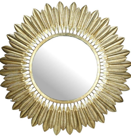 Mirror Gold Metal 70x4x70cm