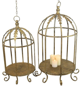 Candle Holder Metal Gold 86x58x58cm Set of 2