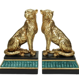Bookstand Leopard Gold 20x11x24cm