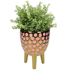Planter Fine Earthenware Pink 13x12x12cm