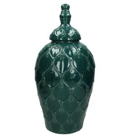 Jar Ceramic Petrol 22,8x22,8x47cm