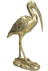 Decoratie van een Lepelaar,Goud 10x41x26cm