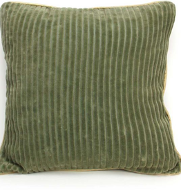 Imbarro Home & Fashion Imbarro kussen Corduroy Green 45x45cm incl binnenkussen