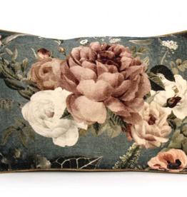 Imbarro Home & Fashion Imbarro Fluwelen kussen Floral Eden incl.Binnenkussen
