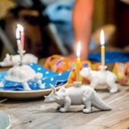 Donkey products Donkey Happy Zoo Day Lucky Pig incl.4 candles,porcelain