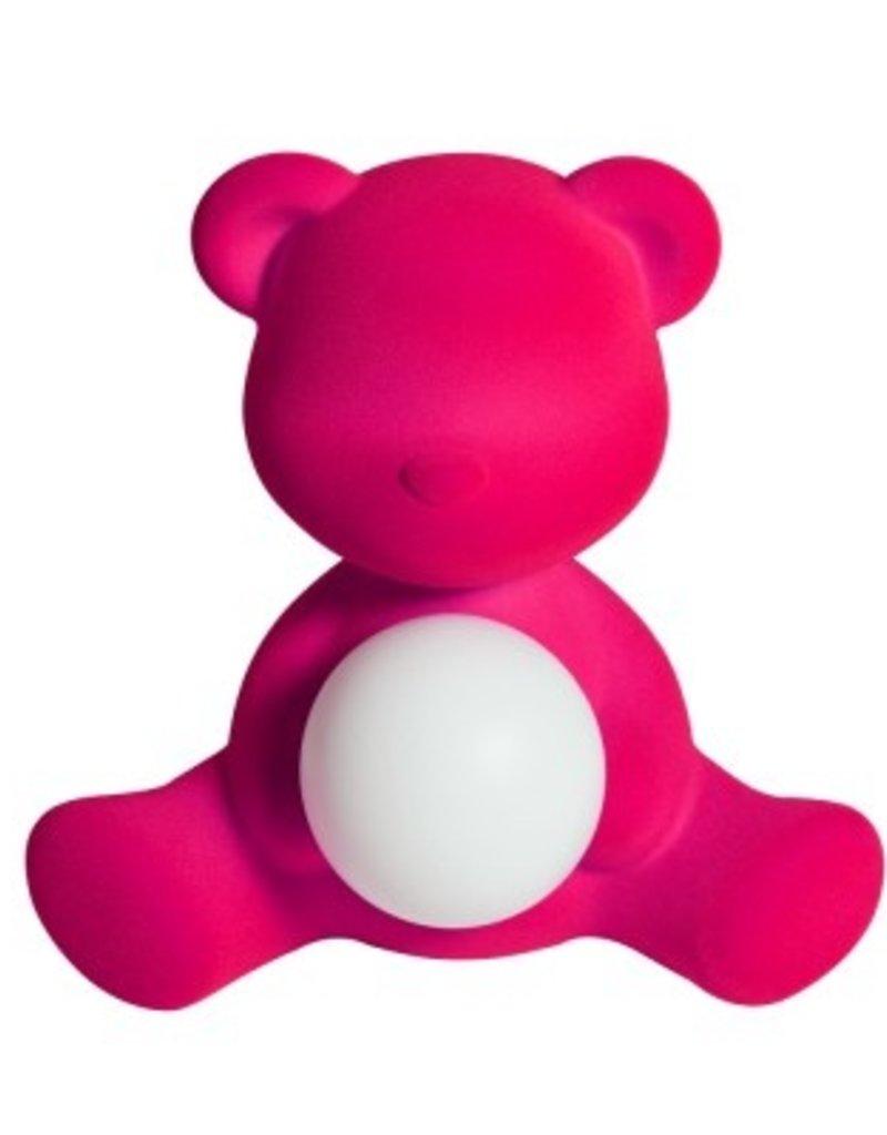 Qeeboo Qeeboo Teddy Girl Velvet Lamp Fuchsia