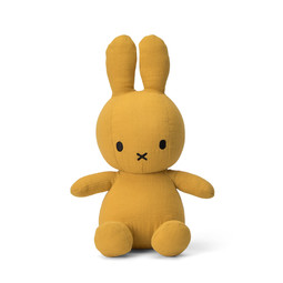Miffy Sitting Mousseline Yellow - 23 cm - 9""