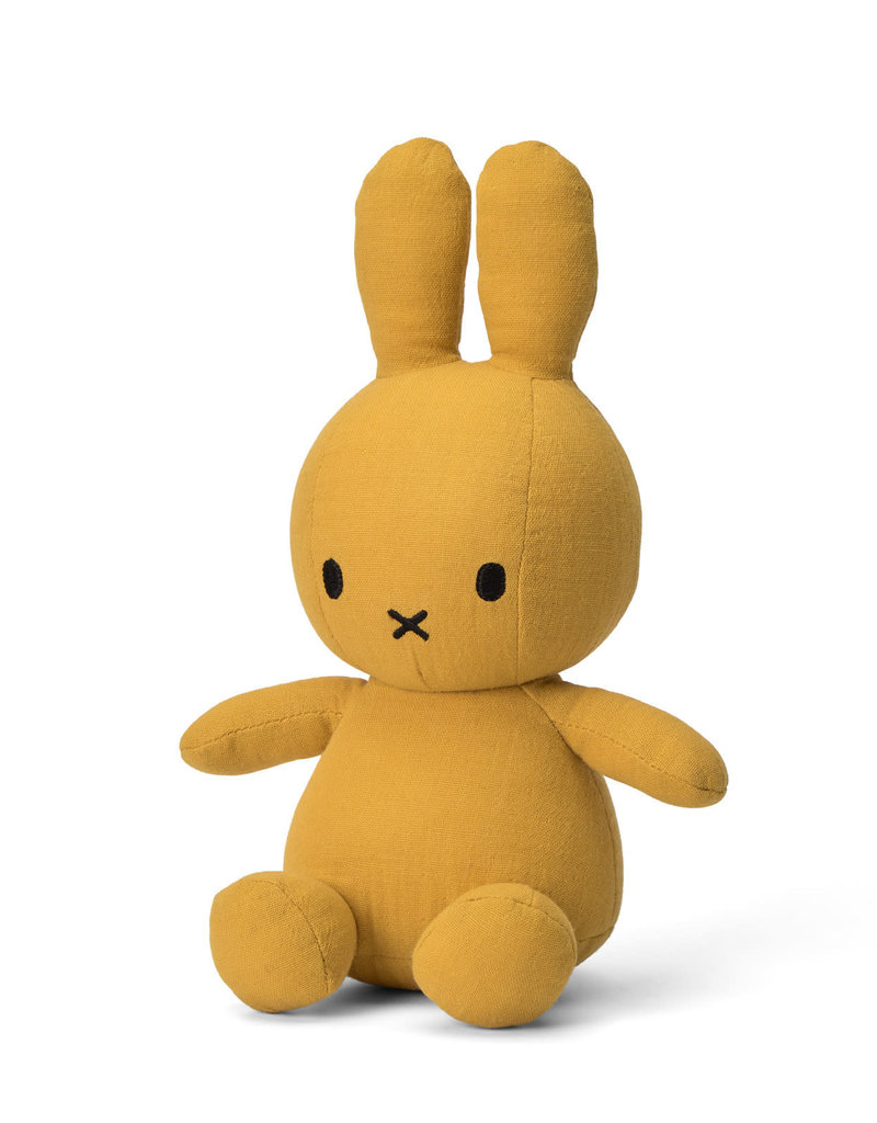"Miffy Sitting Mousseline Yellow - 23 cm - 9"""