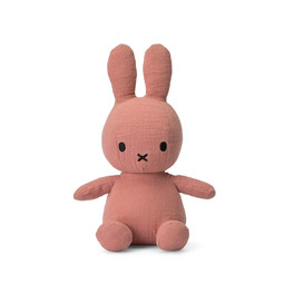 """Miffy Sitting Mousseline Pink - 23 cm - 9"""""""