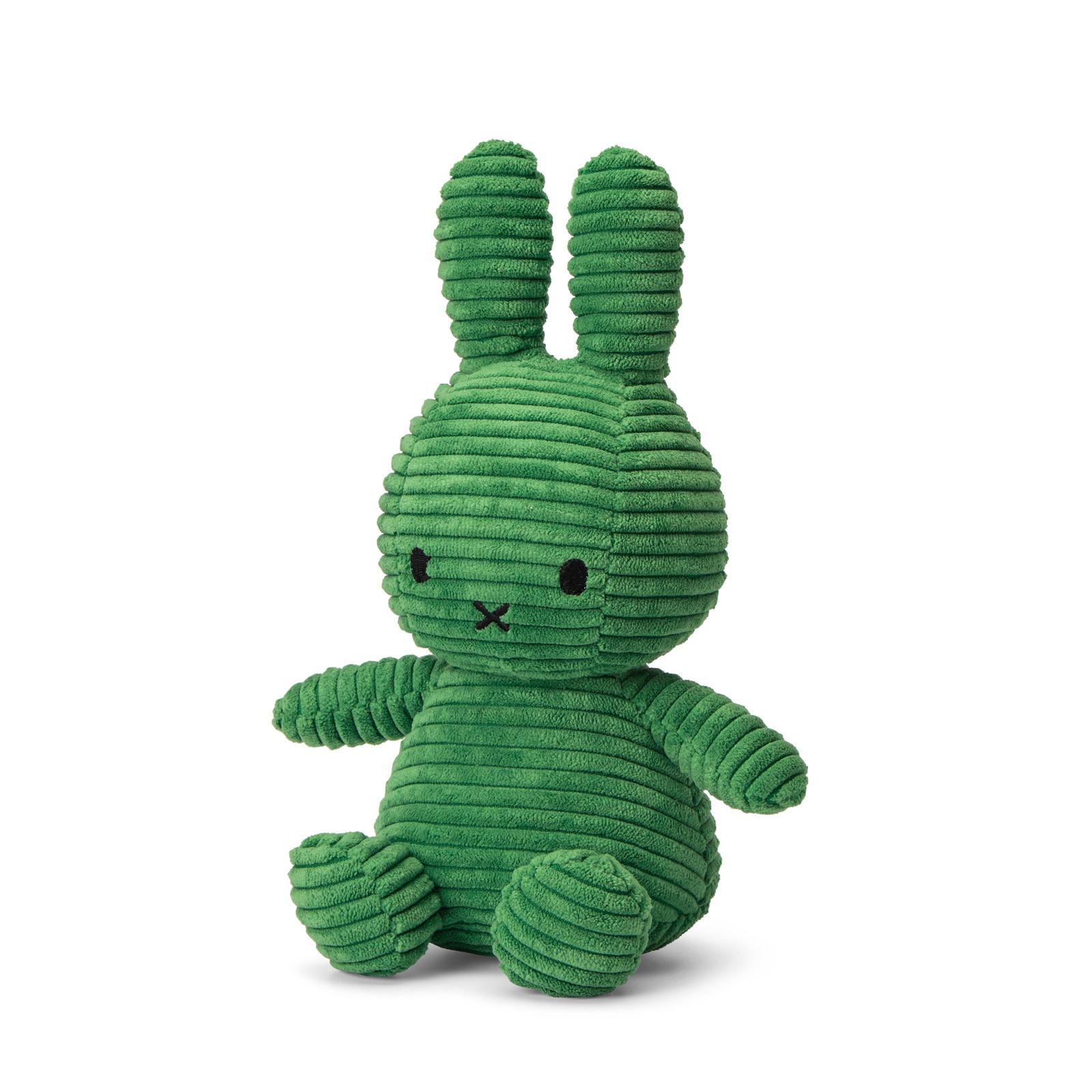 "Miffy Sitting Corduroy Spring Green - 23 cm - 9"""